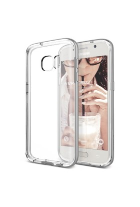 Verus Samsung Galaxy S7 Edge Crystal Bumper Kılıf Light Silver