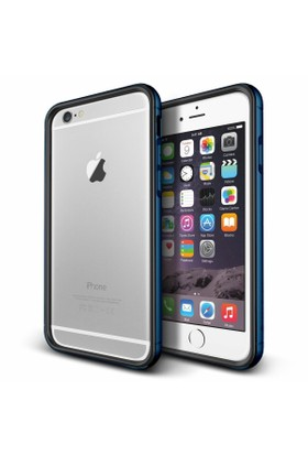 Verus Apple iPhone 6 Plus/6S Plus Iron Bumper Kılıf Black Monaco Blue