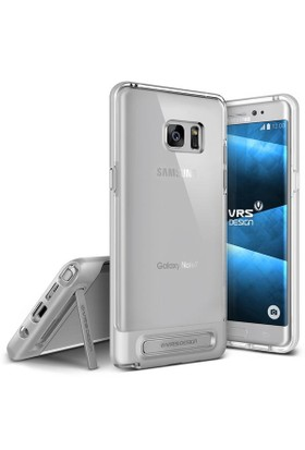 Verus Samsung Galaxy Note FE Fan Edition Crystal Bumper Kılıf Light Silver