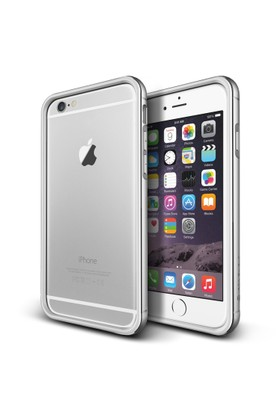 Verus iPhone 6/6S 4.7 Iron Bumper Kılıf White Silver
