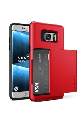 Verus Samsung Galaxy Note FE Fan Edition Damda Glide Kılıf Crimson Red