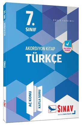 Sınav Dergisi Yayınları 7.Sınıf Akordiyon Serisi Türkçe Aç Konu Katla Soru