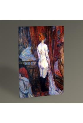 Tablo360 Henri de Toulouse- Lautrec Nude Woman Standing at the Mirror 45 x 30