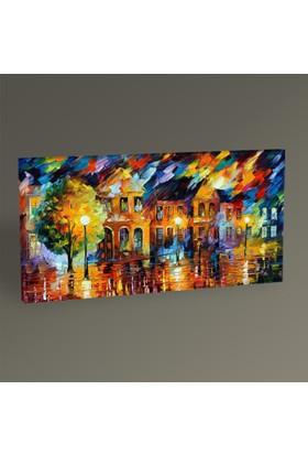 Tablo360 Renkli Yaz Akşamı Tablo 80 x 40