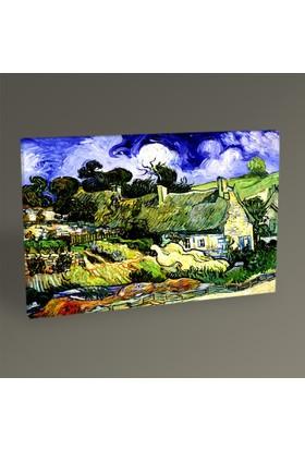 Tablo360 Vincent Van Gogh Cordeville'de Evler 45 x 30