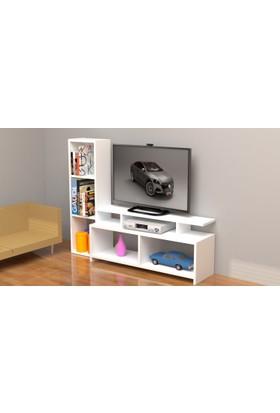 Rafline Çınar Tv Sehpası-Beyaz