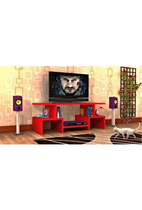 Rafline Twist4 Tv Ünitesi - Kırmızı