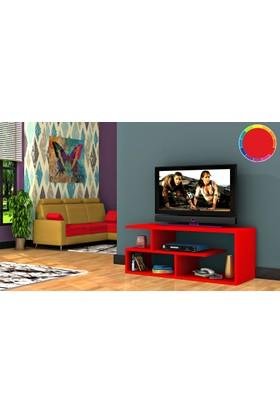 Rafline Optimum Tv Ünitesi - Kırmızı