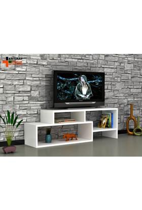 Rafline Clover Tv Ünitesi - Beyaz