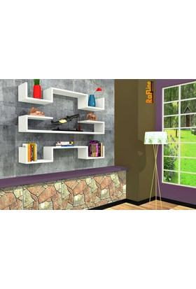 Rafline Violet Duvar Ünitesi - Beyaz
