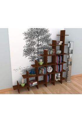 Rafline Puzzle Kitaplık - Ceviz