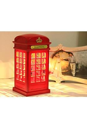 Toptancı Kapında Dokunmatik Telefon Kulübesi Gece Lambası