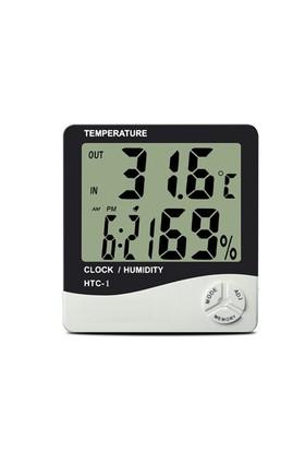Toptancı Kapında Masaüstü Dijital Termometre Nem Ölçer Higrometre