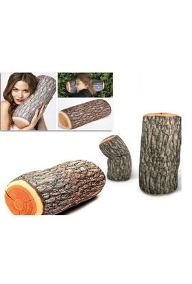 Toptancı Kapında Odun Şeklinde Kütük Yastık