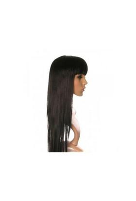 Toptancı Kapında Uzun Peruk Saç - Siyah