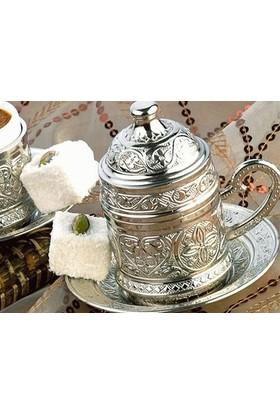 Toptancı Kapında Osmanlı Motifli Kahve Fincanı