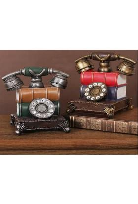 Toptancı Kapında Nostaljik Telefon Görünümlü Kumbara