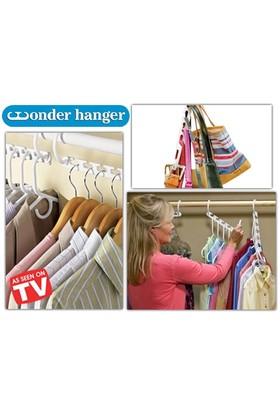 Toptancı Kapında Wonder Hanger! 8 Adet Dolap Askılığı