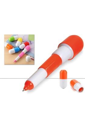 Toptancı Kapında Uzayabilen İlaç Kapsülü Tükenmez Kalem