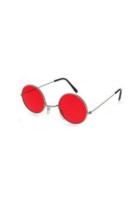 Toptancı Kapında Lennon Gözlük - Kırmızı
