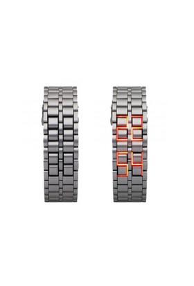 Toptancı Kapında Metal Bileklikli Led Kol Saati (Gümüş)