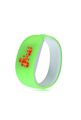 Toptancı Kapında New Fashion Led Bileklik Kol Saati (Yeşil)