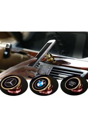 Toptancı Kapında 360 Derece Dönen Logolu Araç İçi Mıknatıslı Telefon Tutucu - Bmw
