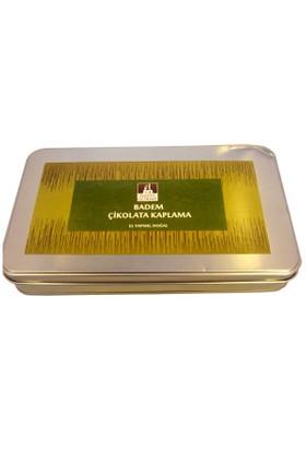 Nefis Gurme Badem Beyaz Çikolata Kaplama 500 Gr Metal Kutu