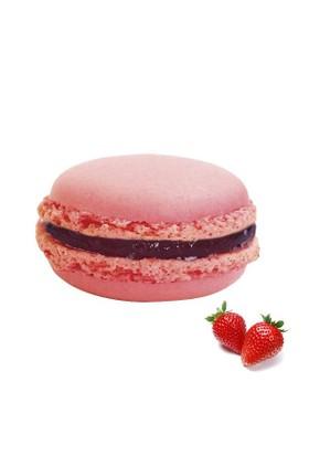 Nefis Gurme Çilekli Deluxe Parisian Macaron 12'Li