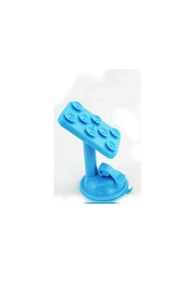 Toptancı Kapında Renkli Araç İçi Vantuzlu Telefon Tutucu - Mavi
