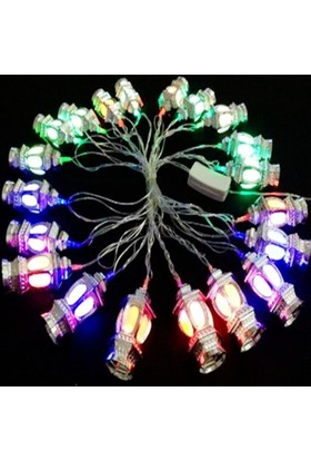 Fener Tasarımlı 20 Ledli Dekor Lambası (4 mt)