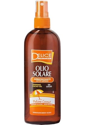 Delice Kakao Aktif Bronzluk Güneş Yağı SPF 30 Sprey 150 ml