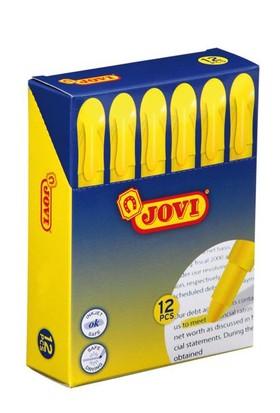 Jovi 12'li Sarı Stik Fosforlu Kalem