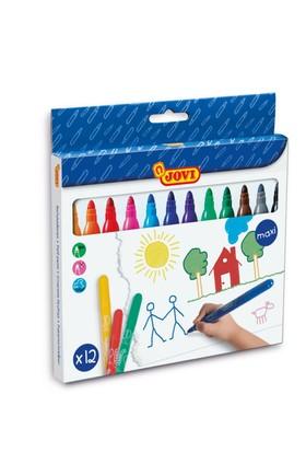 Jovi 12 Renkli Yıkanabilir Maxi Keçeli Kalem Seti
