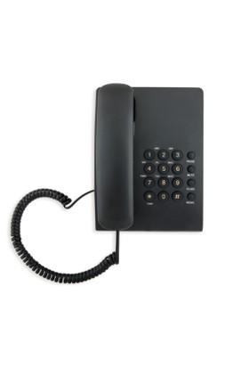 Laxon Masa Üstü Sabit Telefon Kablolu Siyah