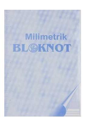 Dilman Milimetrik Bloknot A4 Mavi