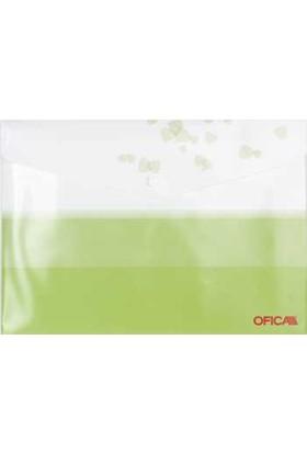 Ofıca Fd 5100 Çıtçıtlı Dosya Ofset Baskı Desenli Yeşil