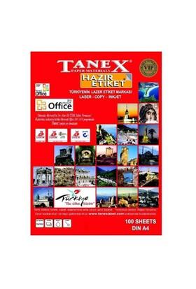 Tanex Yuvarlak Kenar Lazer Etiket A4 63,5*38,1 Mm