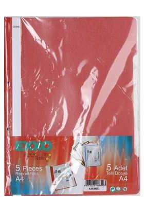 Exxo 5Li Telli Dosya Kırmızı Renk