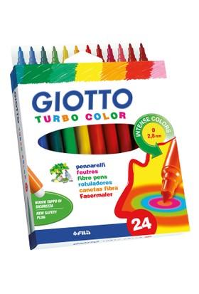 Giotto Turbo Color Su Bazlı Keçeli Kalem Askılı Paket 24Lü 071500