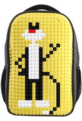 Pixel Sırt Çantası 09 Gri / Sarı
