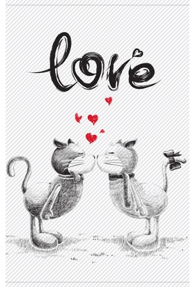 Dones Defter Love Serisi Cats & Love