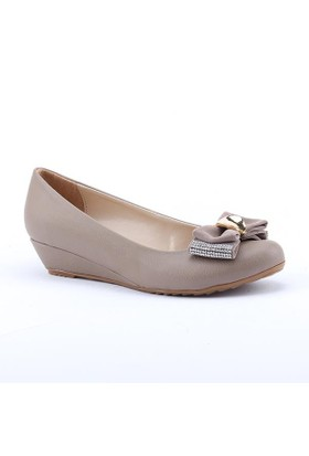 Asm 2500 Günlük 3Cm Dolgu Topuk Ortapedik Kadın Babet Ayakkabı