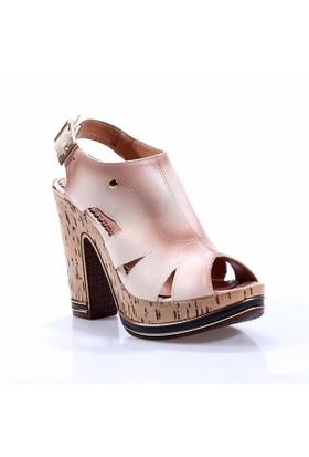 Perim 710 Günlük Cilt Topuklu 12 Cm Kadın Sandalet
