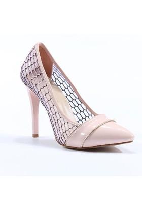 Topuz Stiletto Rugan Topuklu Ayakkabı