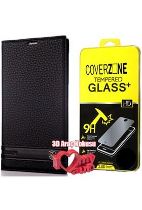 CoverZone Sony X Performance Kılıf Elite Deri Siyah + 3d Araç Kokusu