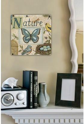Oscar Stone Nature Butterfly Taş Tablo