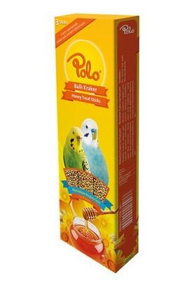 Polo Ballı Üçlü Muhabbet Kuşu Krakeri