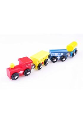 Nani Toys 4'lü Ahşap Magnet Tren Vagonu Seti