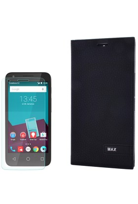 Gpack Vodafone Smart 4 Max Kılıf Kapaklı Magnum Elit Kılıf + Cam